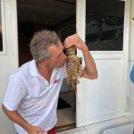 He always kisses his catch