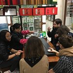 Our small group learns about tea from our Hutong guide