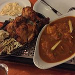 CHicken Do piaza and Tandoori chicken