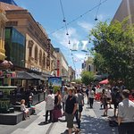 Rundle Mall is just around the corner.