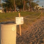 Protected areas for sea oats and some times, turtle nests