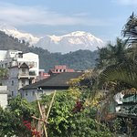 A view of Mt Annapurna from the room.