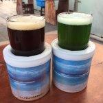 Dark beer & Green beer