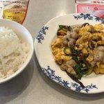 豚肉とキクラゲ玉子炒め + ごはんセット(大盛り可) (2018/01/03)