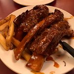 AYCE BBQ Beef Ribs, comes with Cream Chicken Noodle Soup and Fries