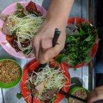 Papaya salad with dried beef + tradition vietnamese dumplings