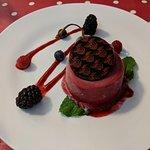 Exquisite red fruit dessert