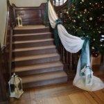 Staircase to wedding reception.