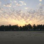 Sunrise over private beach