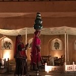 Dining with Rajasthani music and show