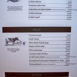 Fish and Meat menu