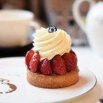 Tartelette aux fraises Opéra