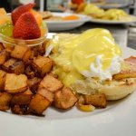 Eggs Benny is a favourite for breakfast!