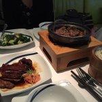 crispy pork and clay pot beef