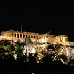 Nightly view of the Parthenon from our room