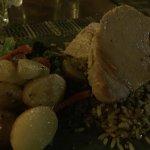 peixe branco com batatas e arroz de castanha