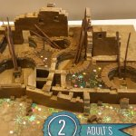 Gingerbread house exhibit (Chaco Canyon)