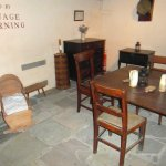 Inside the cottage, the living area