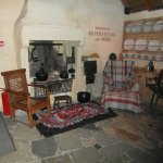 Inside the cottage, the kitchen