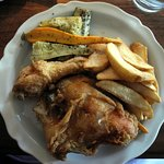 Fried Chicken Lunch Plate at King's Arms Tavern