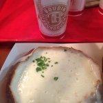 Clam Chowder on a sour dough bowl bread