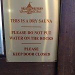 Dry Sauna - nice touch!
