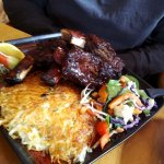 Beef ribs and rosti potato