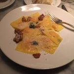 Butternut Squash Ravioli with walnuts
