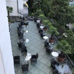 Aussicht auf die Hotel Terrasse