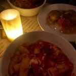 Rigatoni Caprese, Maple Leaf Farms Duck Leg & Zuppa di Pesce
