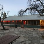 The exterior of the Bad Rabbit Cafe located at Terlingua Ranch Lodge