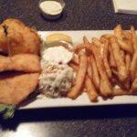 Large order halibut and chips