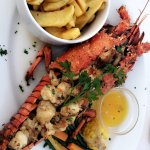 grilled Lobster with fries