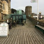 Entrance to the pier and cafe