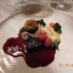 Main course of beef cheek