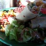 Shrimp burrito!