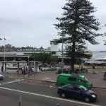 View over Sydney Harbour and Manly Wharf