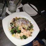 Kale salad with shrimp