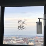 Beautiful view of the Boston Harbor Islands from our corner suite.