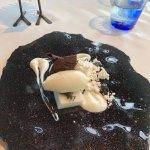 Postre de yogur, chocolate blanco y coco