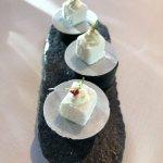 Cubito de coco con ron y oblea para terminar