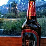 View from the bar. The towers on the label were just behind this mountain