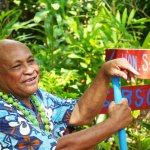 Founder of 'Ene'io Botanical garden, Mr. Haniteli Fa'anunu
