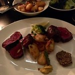 main course - 60 month and 36 month steak