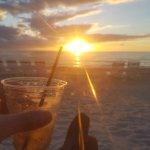Beach Bar at sunset.