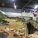 Model train museum onsite.