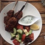 Lamb kofta with greek salad