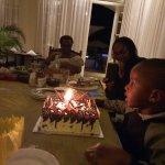 My nephews birthday, our Christmas baby..cake by the hotel
