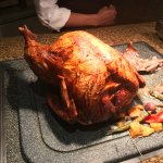 Carving Station: Turkey with different sauces and mint jelly