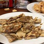 Calamares deliciosos  Berenjenas a la miel riquisimas  Las croquetas de bacalao algo saladas Bue